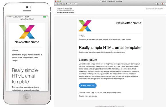diseño responsivo email