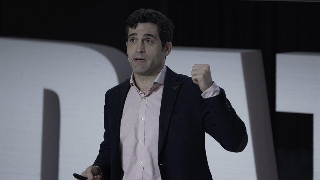 David Rey durante la ponencia en el Data Day