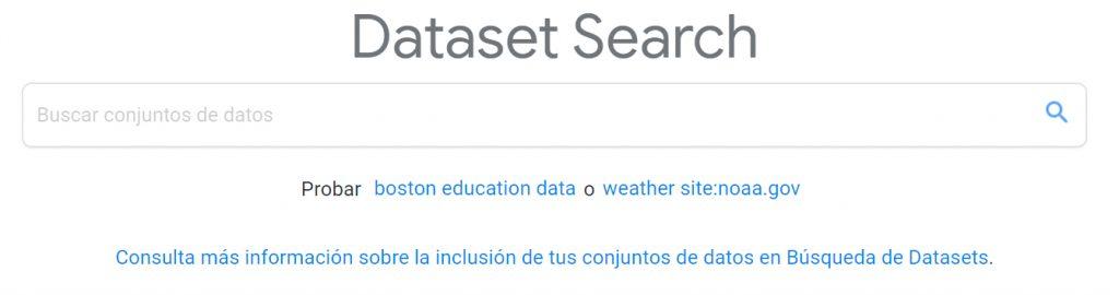 buscador de Google Data Search