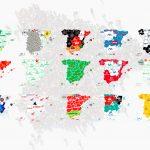 Mapa de top marcas en España