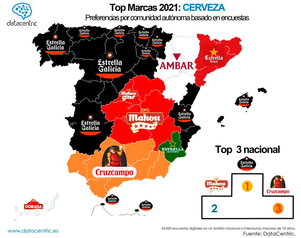 Mapa-top_marcas_CERVEZAS_Espana